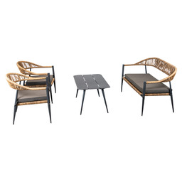 JONAH LOUNGE SET ANTRACIET/NATUREL