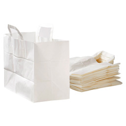 CARRIER BAG WHITE PAPER 32X17X25CM