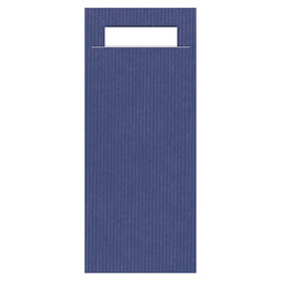 CUTLERY POUCHES ECO BLUE / WHITE