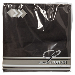 NAPKIN 1/4 VW BLACK 33/2