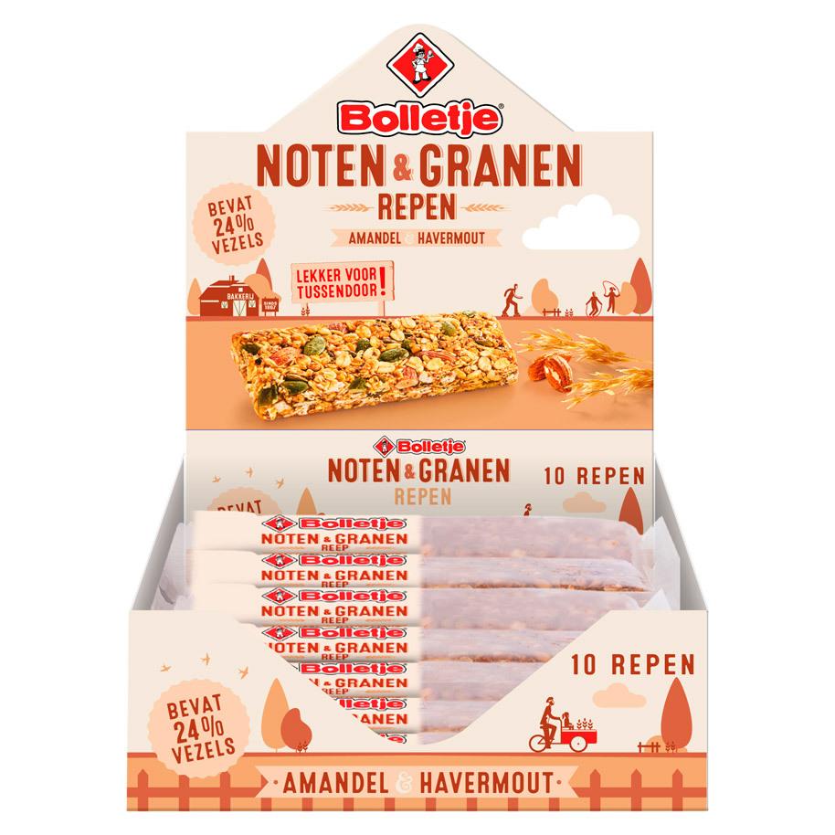 NOTEN&GRANEN REEP AMANDEL HAVERMOUT 40GR