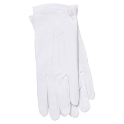 SERVING GLOVES WHITE SZ L