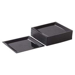 MILAN SIDE PLATE 135X135 MM BLACK