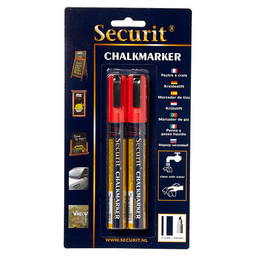 CHALK MARKER THIN RED