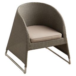 SOPHIE LOUNGE CHAIR FLAT WEAVING RVS ON