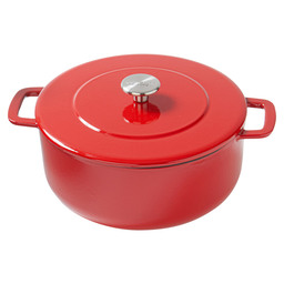 BRAADPAN SOUS-CHEF DUTCH OVEN 24CM ROOD