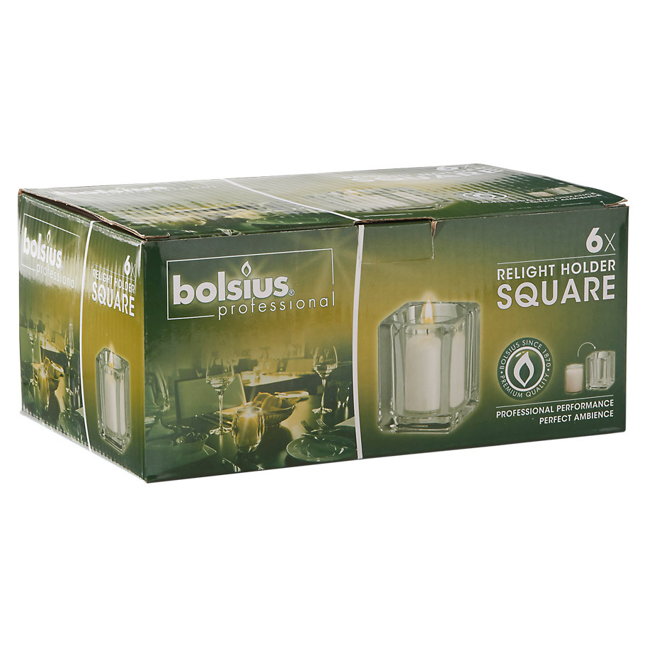 RELIGHT HOUDER 'SQUARE'DS6 TRANSPARANT