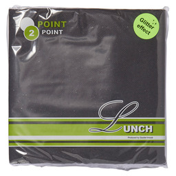 POINT2POINT NAPKIN 33CM 1/4 BLACK METAL