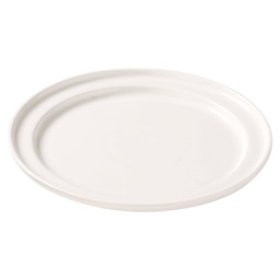 PLATE WITH GROOVED EDGE 20 CM