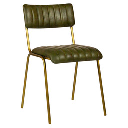 JENSON CHAIR - GREEN LEDER