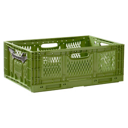 FOLDABLE CRATE HEAVY 60X40X23 GREEN