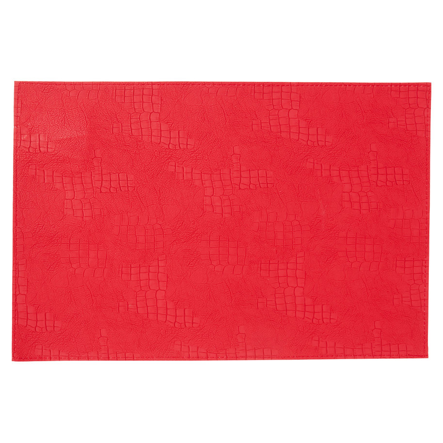 PLACEMAT LEATHER LOOK RED 30X45 CM