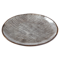 BORD INDY PLAT 17X17X1,8CM TAUPE