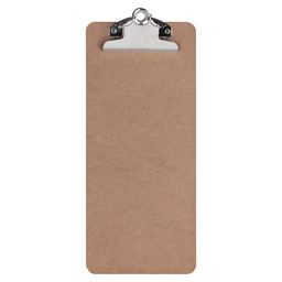 CLIPBOARD WOOD SILVER 1/3 A4