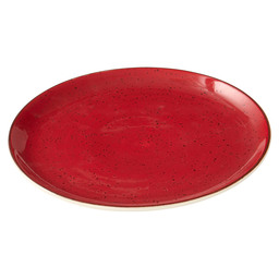 PLATE RUSTIC COUP SURFACE 23CM RED
