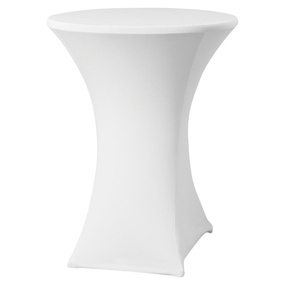 TABLE COVER BASIC D2 PL 80-85CM WHITE (3