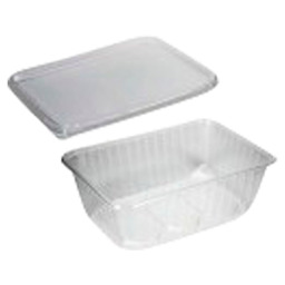 KILO DISH 1/1 KG TRP PP WITH LID