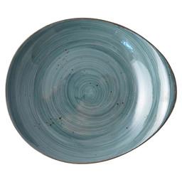 PLATE RUSTIC PEBBLE DEEP 27,5 CM BLUE