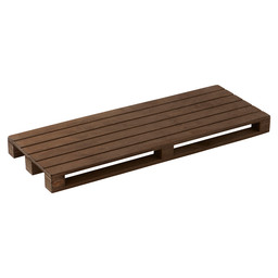 PALLET PRESENT.PLANK DONKER HOUT 40X15CM