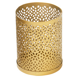 CANDLE HOLDER BLISS GOLD 10X8CM