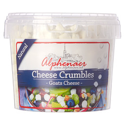 FRESH GOATS CREAM CHEESE, CRUMBLED