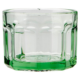 GLASS SMALL D8 H6 16CL TRANSPARENT GREEN