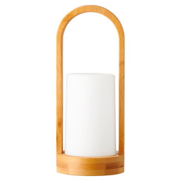CANDLE HOLDER BAMBOO EASY 24X10CM