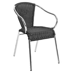 KANNET TERRACE CHAIR BLACK - ALUMINIUM