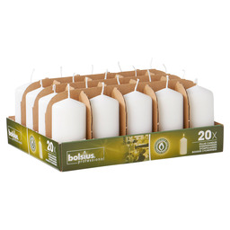 PILLAR CANDLES 10/5 TR20 WHITE