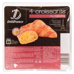 4 BUTTER CROISSANTS IN MODIFIED ATMOSPHE