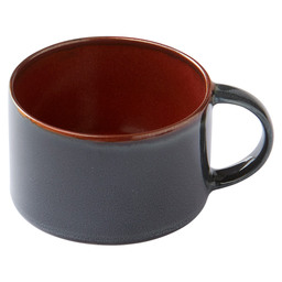 COFFEE CUP D8 H5,1 RUST/DARK BLUE