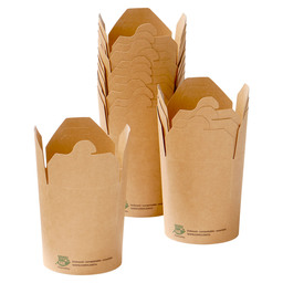 NOODLE PACKAGE BROWN 16OZ 100% FAIR