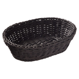BASKET OVAL BLACK 25X19X6.5 CM