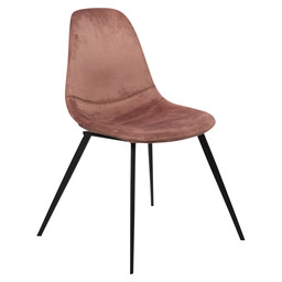 LOGAN CHAIR - PINK VELVET