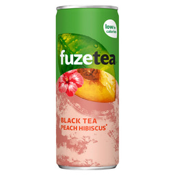 FUZE TEA BLACK TEA PEACH HIBISCUS 0,25L