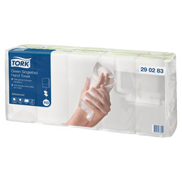 TORK ADVANCED HANDD. Z-VOUW 2-LGS GROEN