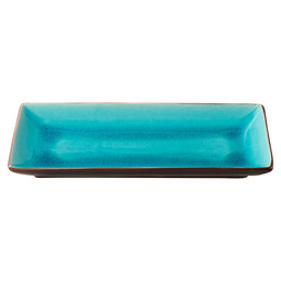 PLATE ASIA 30X14 CM TURQUOISE/BLACK