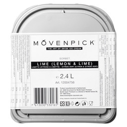 SORBETIJS LEMON LIME  MOVENPICK ALL NATU
