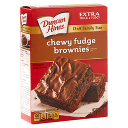 BROWNIE MIX CHEWY FUDGE