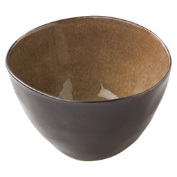 BOWL 10.5X6.5 CM PURE GREY FLAMED