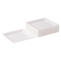 MILAN SIDE PLATE WIT  135X135MM WIT
