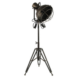 LAMP EMILIE 35X30X93CM DARK GREY