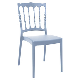 NAPOLEON CHAIR PVC - SILVER GREY