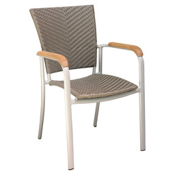 BAJA SILVER TERRACE CHAIR SILVER - TAUPE