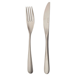 6 TABLE FORKS + 6 TABLE KNIVES SWING MYS