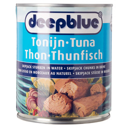 TUNA CHUNKS IN BRINE D.BLUE