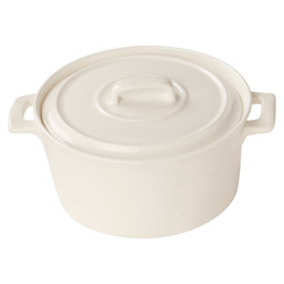 CLIO POT WHITE 15X7 CM WITH LID