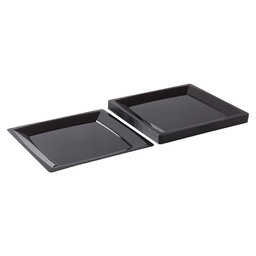 MILAN LUNCH PLATE 210X210 MM BLACK