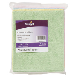 Micro fiber window cloth 4 col. 32x38cm