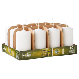 PILLAR CANDLES 13/7 TR12 WHITE